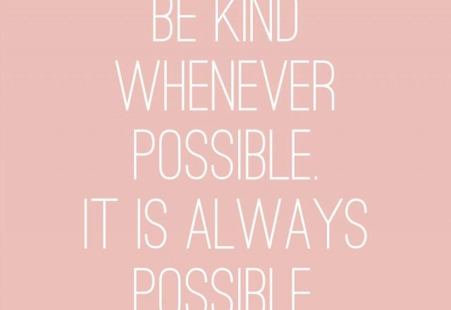 Wednesday Words of Wisdom – Be Kind