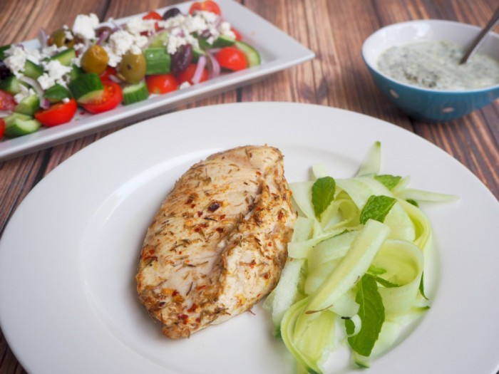 Spice Baked Chicken with Tzatziki