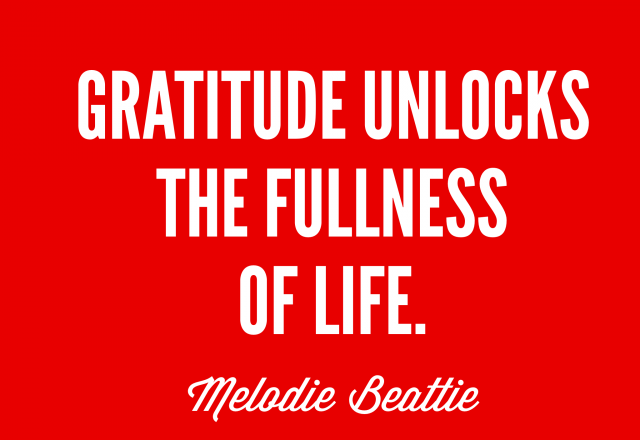 Wednesday Words of Wisdom – Gratitude