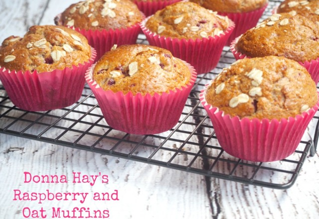 Donna Hay's Raspberry and Oat Muffins