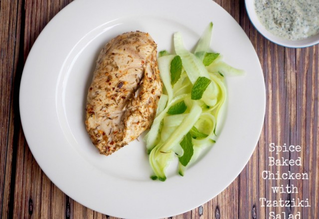 Donna Hay's Spice-Baked Chicken with Tzatziki Salad