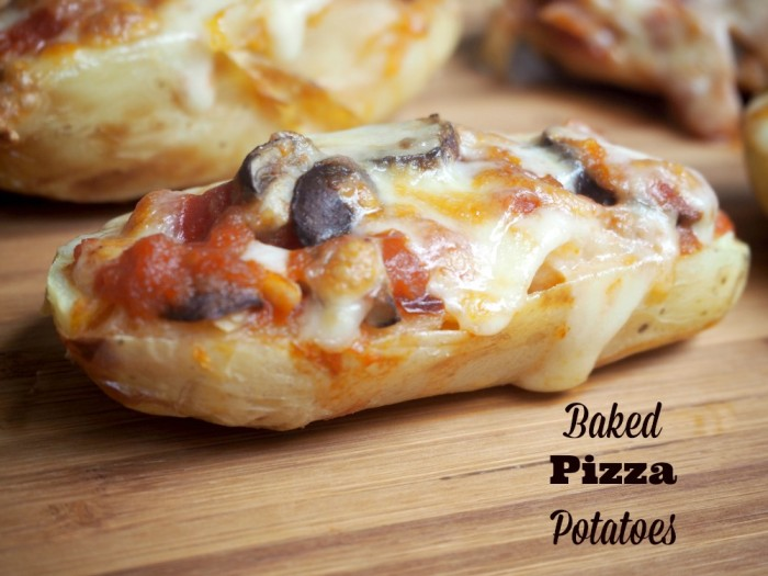 Baked Pizza Potatoes