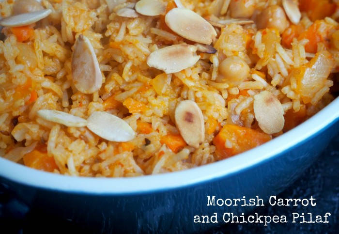 Moorish Carrot and Chickpea Pilaf