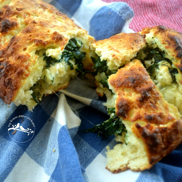 Spinach Feta Damper My Brown Paper Packages