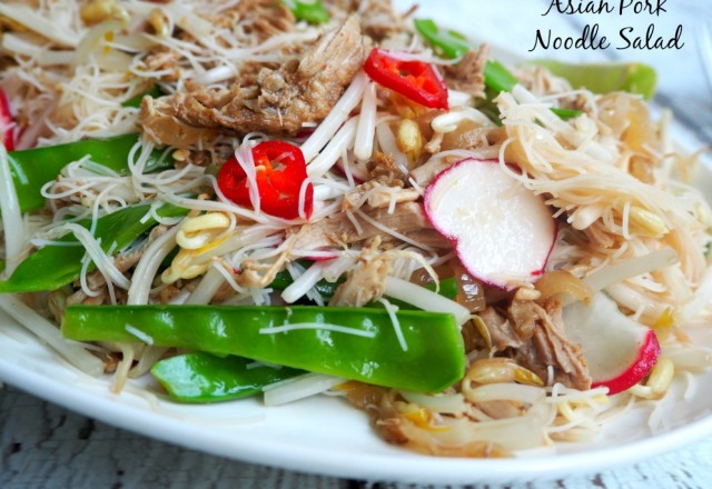 Asian Pork Noodle Salad