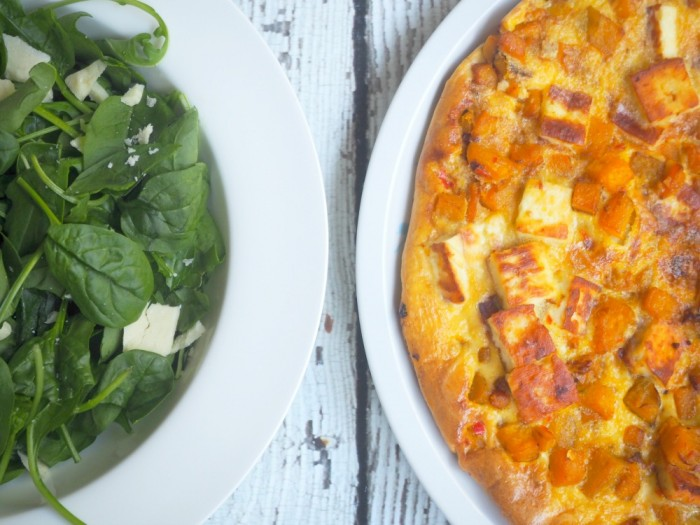 Pumpkin, Halloumi and Red Chilli Frittata