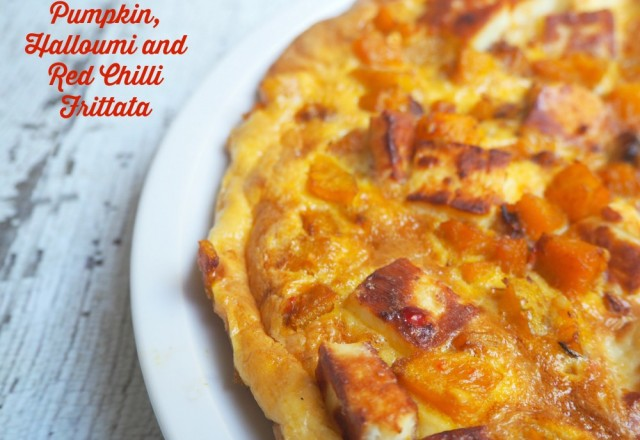 Meatless Monday – Pumpkin, Halloumi and Red Chilli Frittata