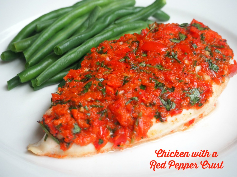 Chicken with a Red Pepper Crust