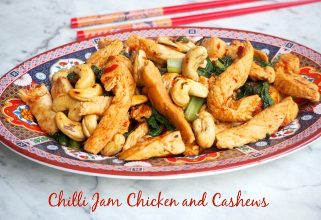 Chilli Jam Chicken and Cashews