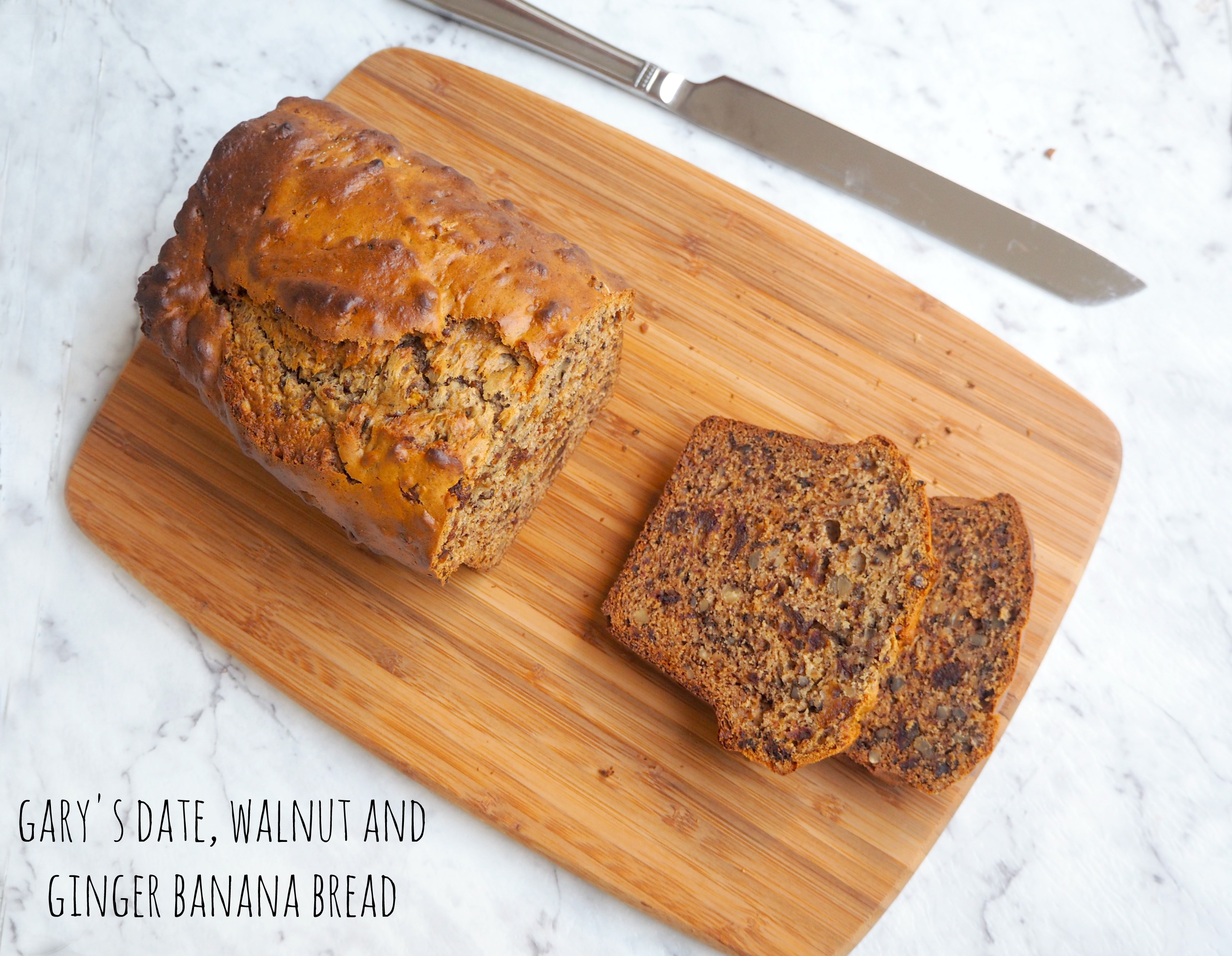 Gary's Date, Walnut and Ginger Banana Bread