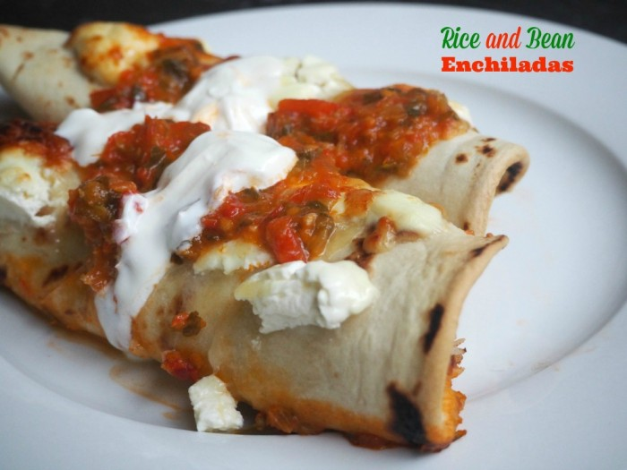 Rice and Bean Enchiladas