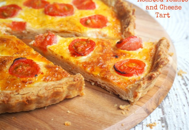 Meatless Monday – Roasted Tomato and Cheese  Tart