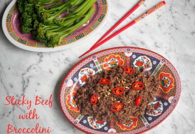 Sticky Beef with Broccolini