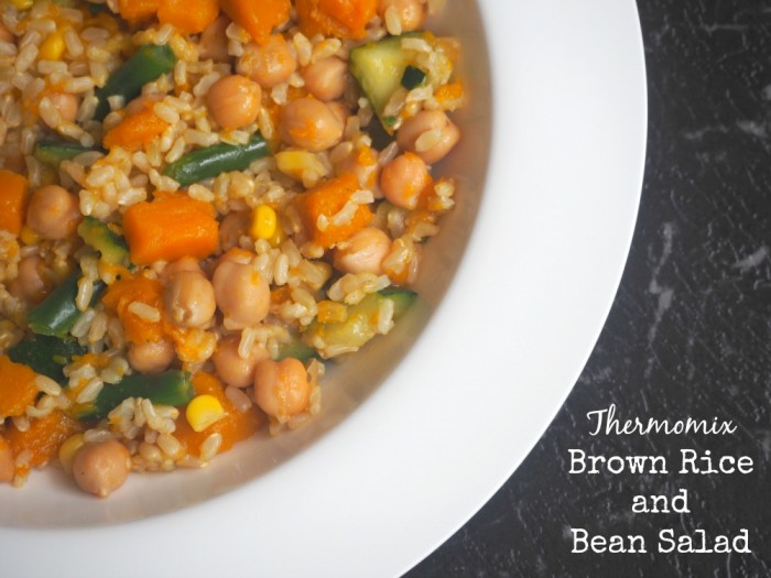 Thermomix Brown Rice and Bean Salad