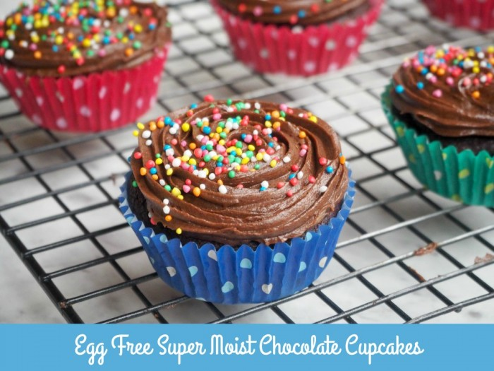 Egg Free Super Moist Chocolate Cupcakes