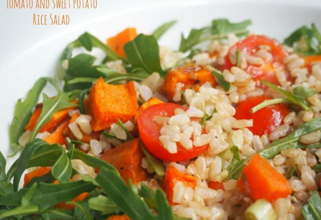 Tomato and Sweet Potato Rice Salad