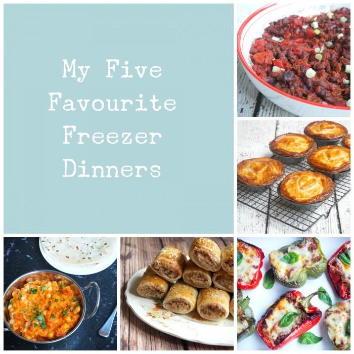 My 5 Favourite Freezer Dinners