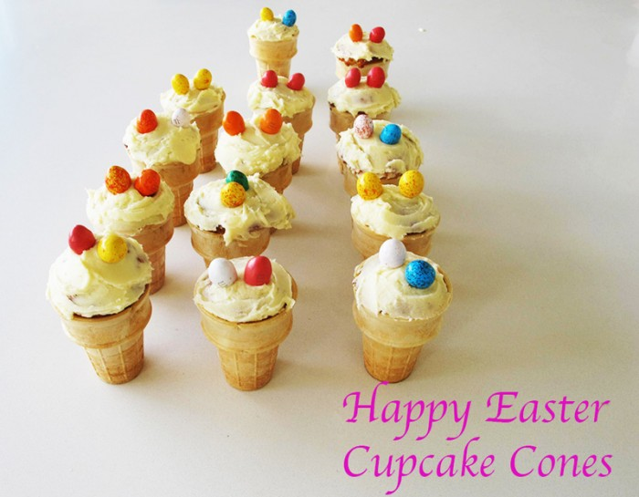 Easter Cupcake Cones Boiled Eggs and Soldiers