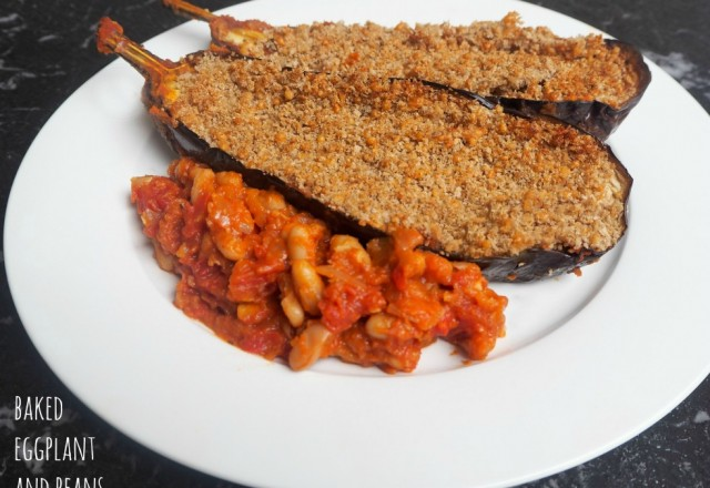 Meatless Monday – Baked Eggplant and Beans