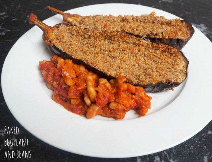 Baked Eggplant and Beans
