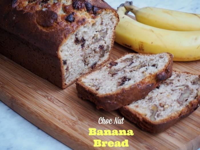 Choc Nut Banana Bread