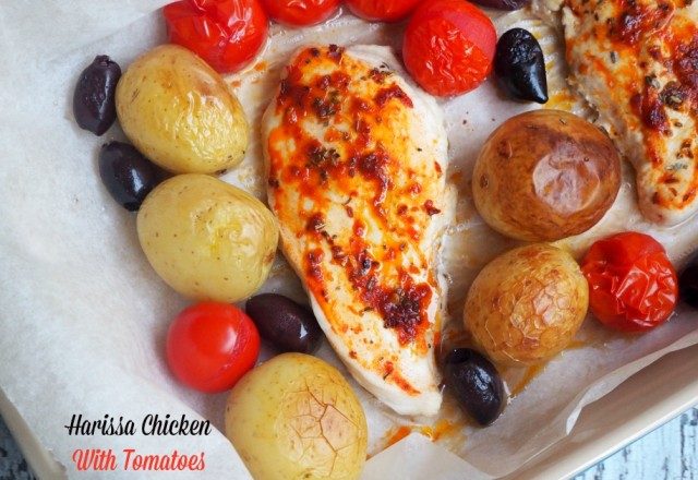 Harissa Chicken with Tomatoes and Olives