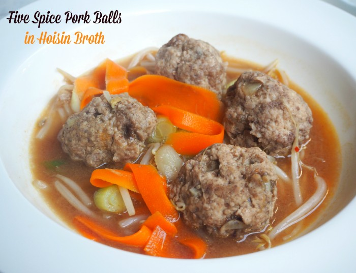 Five Spice Pork Balls in Hoisin Broth