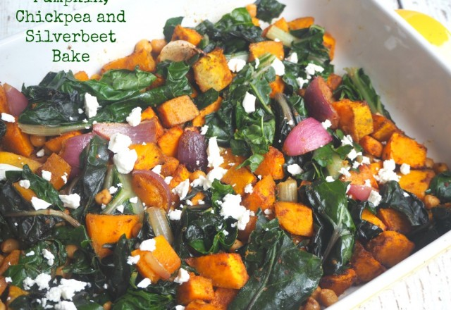 Meatless Monday – Pumpkin, Chickpea and Silverbeet Bake
