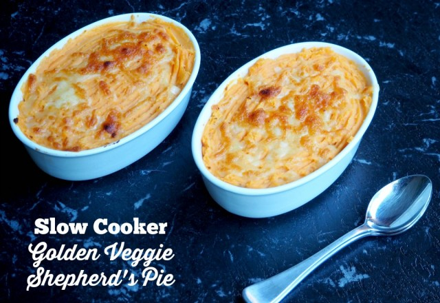 Meatless Monday – Slow Cooker Golden Veggie Shepherd's Pie