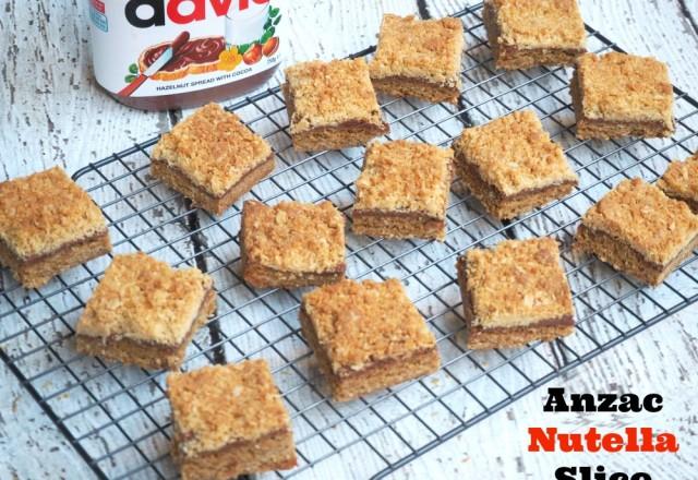 Nutella Anzac Slice