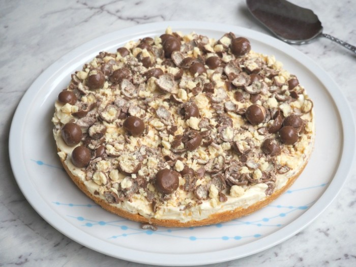 No Bake Malteser Cheesecake