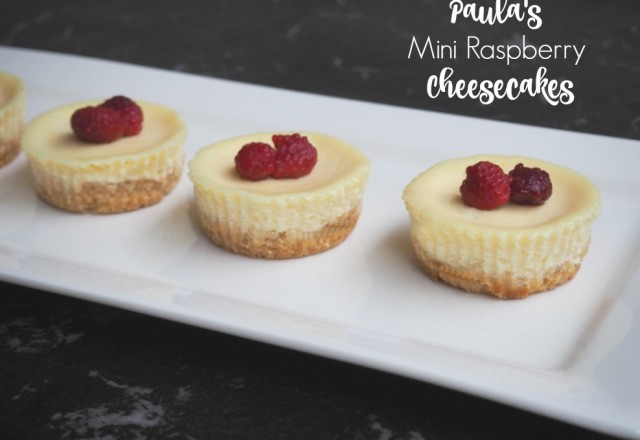 Paula's Mini Raspberry Cheesecakes
