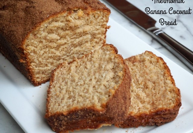 Thermomix Banana Coconut Bread