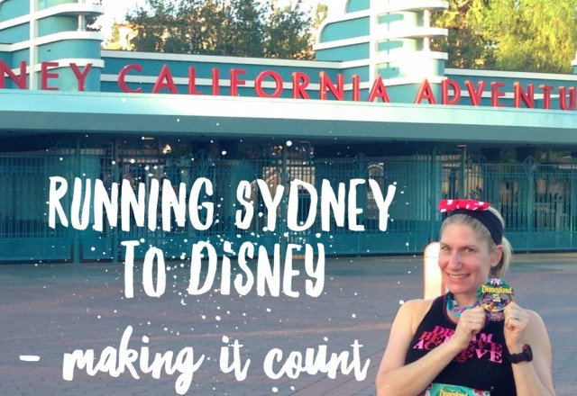 Running Sydney to Disney – Making it count