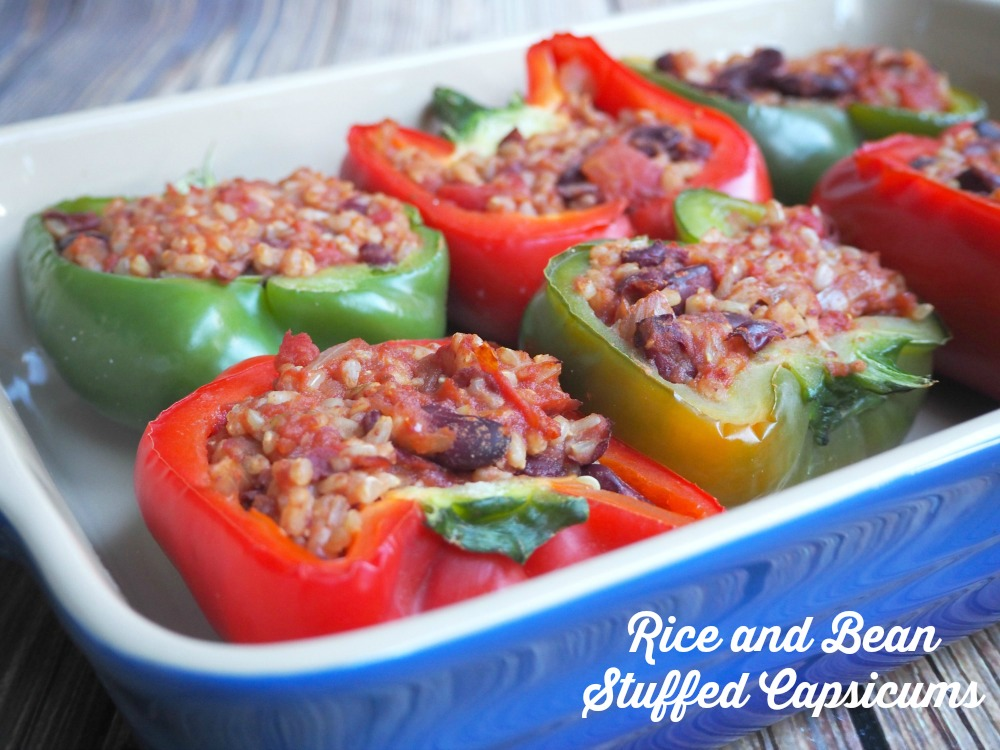 Rice and Bean Stuffed Capsicums