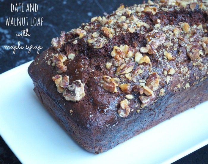 Date and Walnut Loaf with Maple Syrup