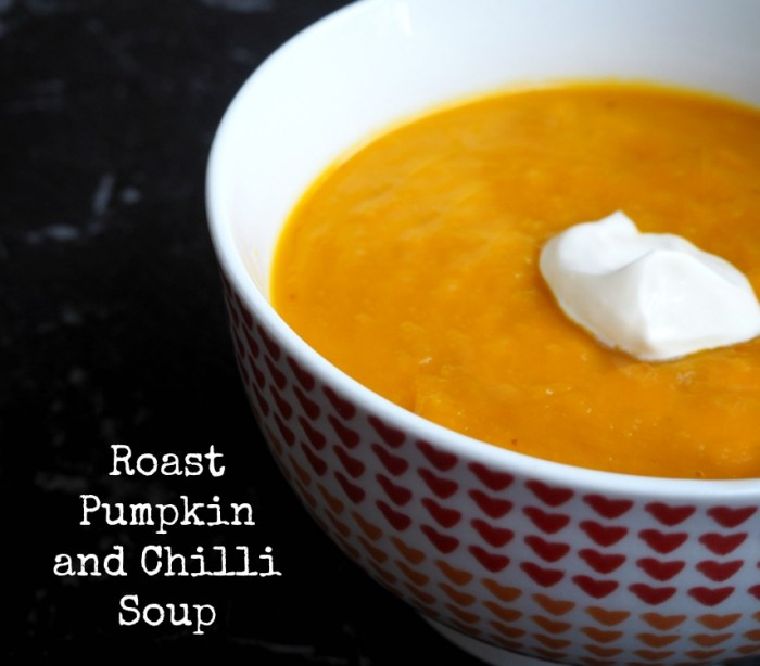 Roast Pumpkin and chilli soup