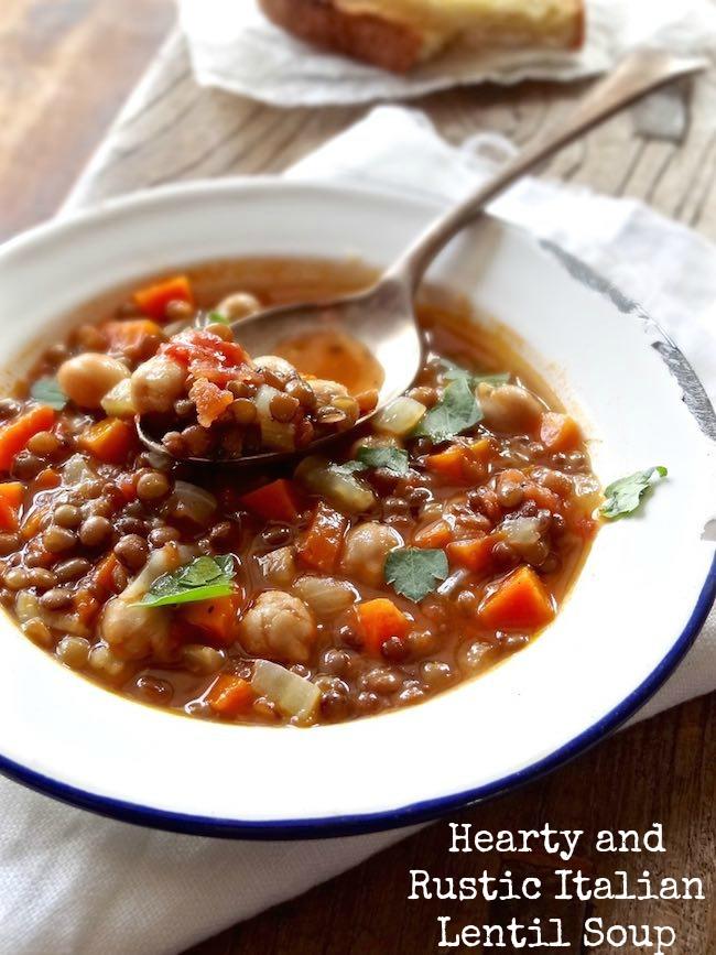 Hearty Italian lentil soup _ Plus Ate Six 1