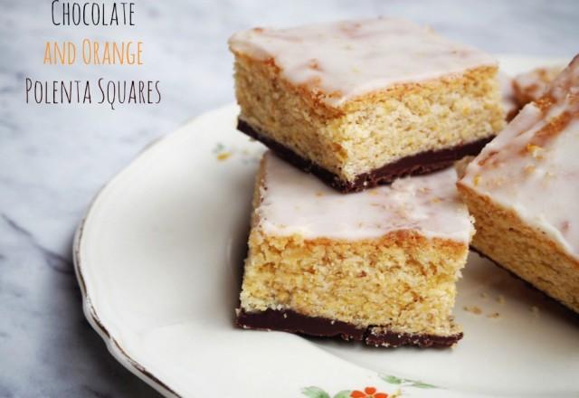 Chocolate and Orange Polenta Squares