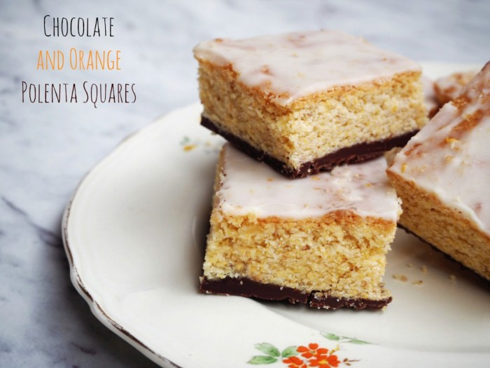 Chocolate and Orange Polenta Squares text