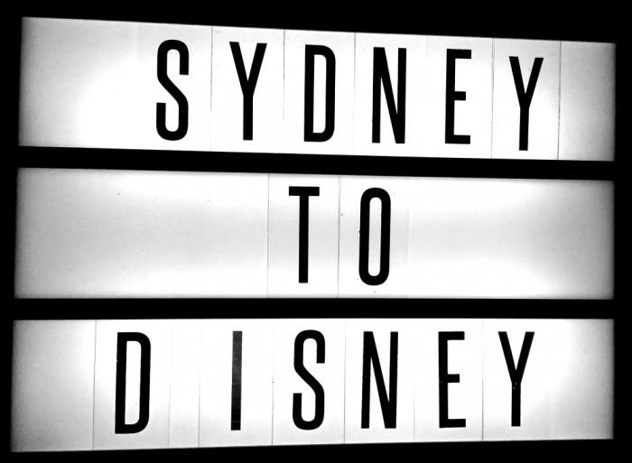 Sydney to Disney