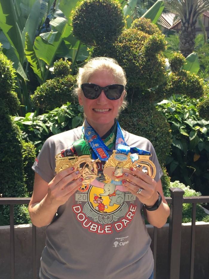 TS 6 - Disneyland half marathon weekend medals