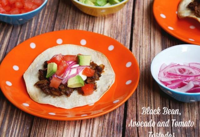Meatless Monday – Black Bean, Avocado and Tomato Tostadas
