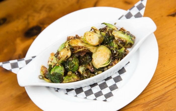Flying pig crispy brussel sprouts