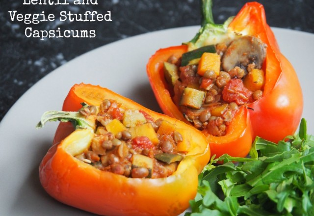 Meatless Monday – Lentil and Veggie Stuffed Capsicums