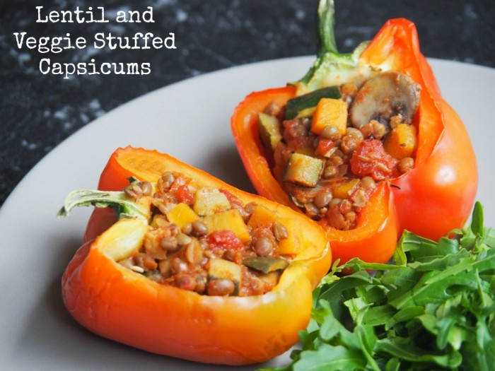 Lentil and Veggie Stuffed Capsicums