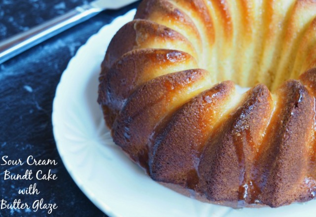 Soured Cream Bundt Cake with Butter Glaze