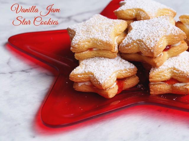 Vanilla Jam Star Cookies