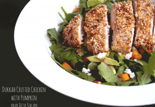 Dukkah-Crusted Chicken with Pumpkin and Feta Salad