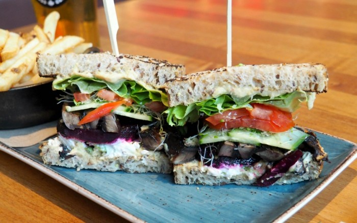 Tap and Barrel Lonsdale Quay - veggie sandwich